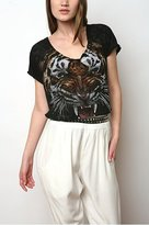 Printed Tiger Burnout Tee