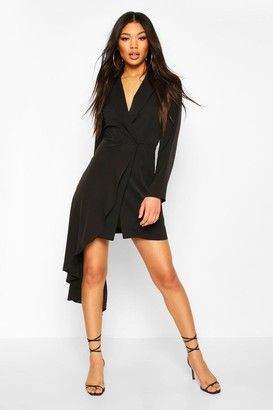 boohoo Waterfall Drape Blazer Bodycon Dress