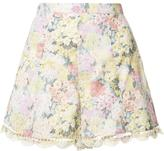 Zimmermann scalloped hem floral shorts - women - Cotton - 0