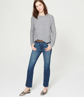 LOFT Tall Cropped Straight Leg Jeans in Dark Stonewash