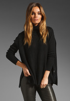 Velvet Cashmere Blend Fatima Turtleneck Sweater