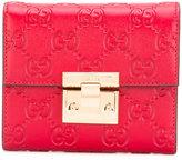 Gucci GG Signature padlock wallet
