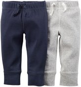 Carter's 2 Pack Pants (Baby) - Navy/Gray-Newborn