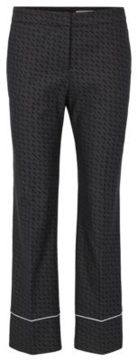 HUGO BOSS Relaxed Fit Pants With All Over Monogram Pattern - Patterned