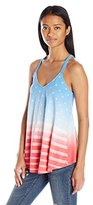 Freeze Juniors' Americana Cotton-Blend Tank With Braided Back Strap