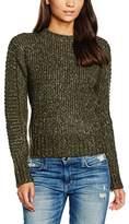 MinkPink Women's By The Fire Zip Back Sweater Plain Long Sleeve Sweatshirt