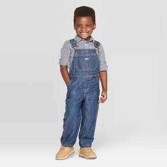 Osh Kosh Toddler Boys' Demin Cuff Lined Overall - Demin Blue