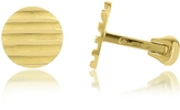 Torrini Stripes - 18K Yellow Gold Round Cufflinks