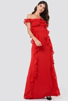 Trendyol Halter Strap Frill Maxi Dress