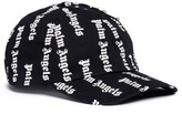 Palm Angels Zip pocket logo print baseball cap