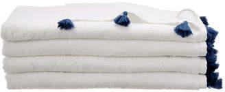 Melange Home Tasseled Hand Towel 4Pc Set