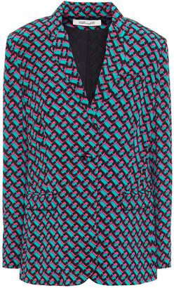 Diane von Furstenberg Printed Silk-crepe Blazer