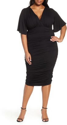 Kiyonna Rumor Ruched Body-Con Dress