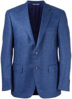 Canali woven single breasted blazer
