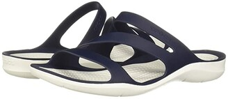 Crocs Swiftwater Sandal (Navy/White) Women's Sandals