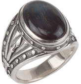 Konstantino Men's Sterling Silver Ring with Hawk's Eye
