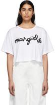 MM6 MAISON MARGIELA White Logo Cropped T-Shirt