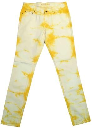 Michael Kors Yellow Cotton - elasthane Jeans for Women
