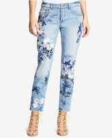 William Rast My Ex's Embroidered Straight-Leg Jeans