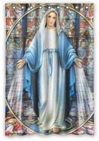 "wantsky 48""(w) x 72""(h) Cute Virgin Mary Theme Print 100% Polyester Bathroom Shower Curtain(Rideau de douche) Shower Rings Included"