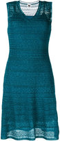 M Missoni v neck lace style layer dress - women - Polyamide/Polyester - 40