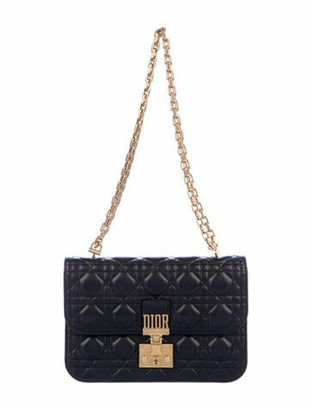 Christian Dior Quilted Cannage DiorAddict Flap Bag Black