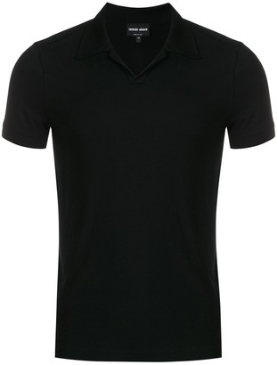 Giorgio Armani Short-Sleeve Polo Top
