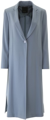 Pinko Single-Breasted Side Slit Coat