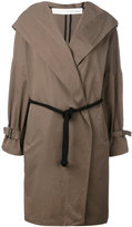 Isabel Benenato belted hooded coat - women - Cotton - 42