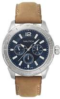 Nautica Men's 'SEATTLE' Quartz Stainless Steel and Leather Casual Watch