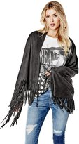 GUESS Faux-Suede Fringe Scarf
