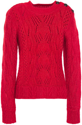 BA&SH Numa Cable-knit Cotton, Mohair And Silk-blend Sweater