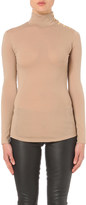 Balmain Crested-poppers wool-jersey top