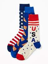 Old Navy Novelty-Print Sock 3-Pack Men