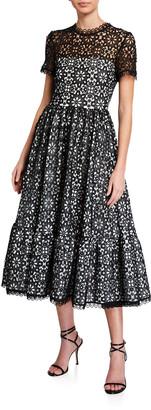 Mestiza New York Alfama Short-Sleeve Midi Lace Dress