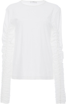 Tibi Long Sleeved Ruched Top