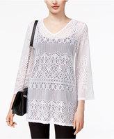 Alfani Petite Lace Tunic, Only at Macy's