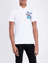 Burberry Weather-appliqué cotton-piqué polo shirt