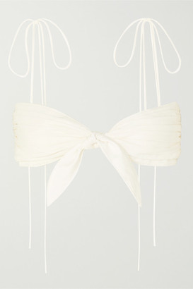 Orseund Iris Cha Cha Pleated Poplin Bra Top - Cream