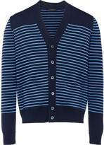 Prada striped V-neck cardigan