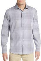 Saks Fifth Avenue Regular-Fit Yarn-Dye Plaid Sportshirt