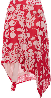BA&SH Draped Printed Georgette Mini Skirt