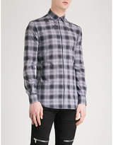 Givenchy Star-motif Checked Slim-fit Cotton Shirt