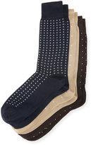 Neiman Marcus 3-Pair Half-Calf Dotted Socks Set