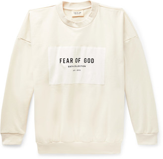 Fear Of God Oversized Logo-Appliqued Loopback Cotton-Jersey Sweatshirt