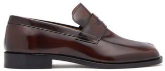 Maison Margiela Tabi Split-toe Leather Loafers - Black Brown