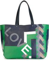 Salvatore Ferragamo love geometric print tote