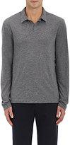 James Perse Men's Mélange Cotton-Blend Long-Sleeve Polo Shirt