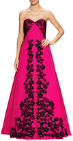 Oscar de la Renta Lace And Floral Embroidered Gown