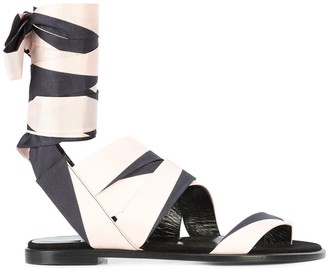 Pierre Hardy ankle-wrap sandals